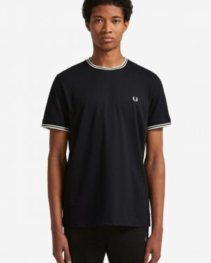 Fred Perry Twin Tipped Tshirt Musta