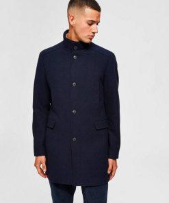 Selected Mosto Wool Coat Blue Sininen