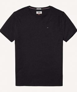 Hilfiger New Stretch C-Nk T-Shirt Musta
