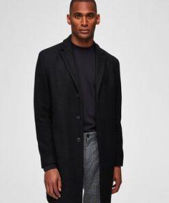 Selected Covent Wool Coat Black Musta