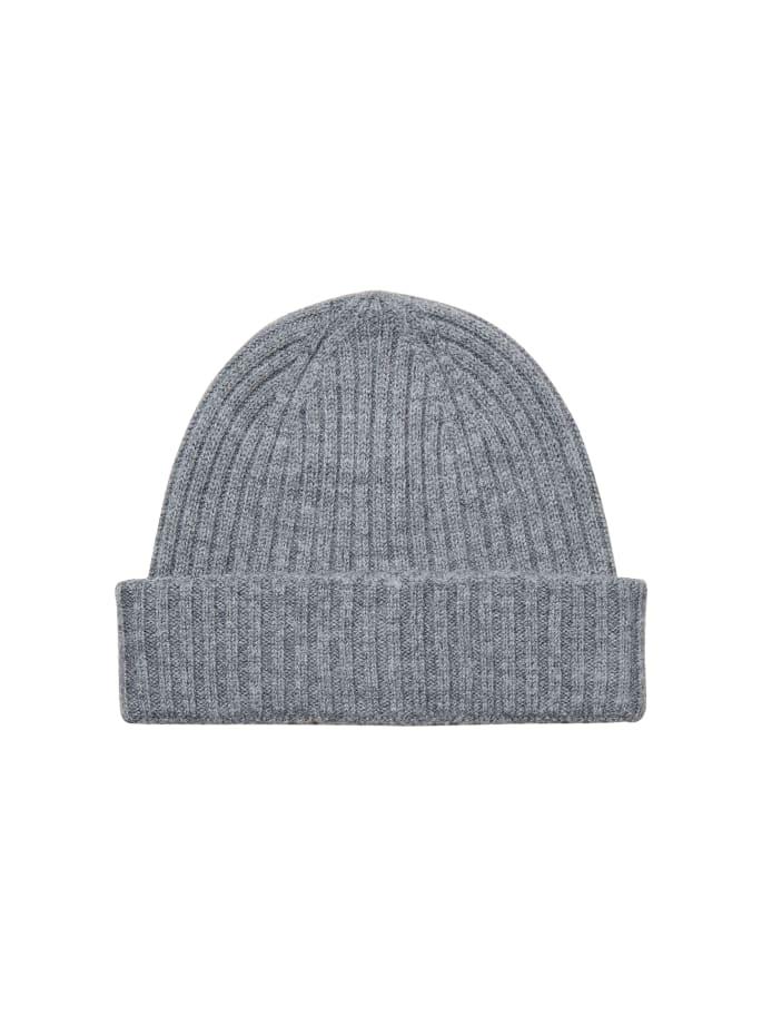 Selected Merino Wool Beanie Grey Harmaa