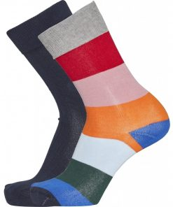 Knowledge Timber 2-Pack Striped Socks