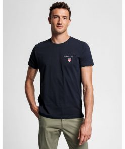 Gant Medium Shield T-Shirt Blue