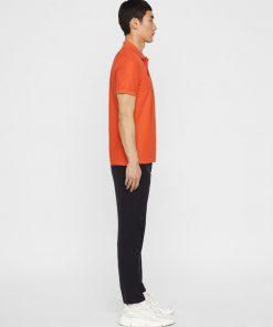 J.Lindeberg Troy Clean Pique Shirt Red