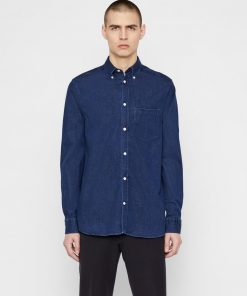J.Lindeberg Stretch Denim Shirt Blue