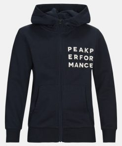 Peak Performance Junior Ground Zip Hood Navy