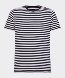 Tommy Hilfiger Organic Cotton Stripe T-Shirt Navy