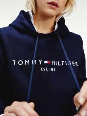 Tommy Hilfiger Logo Hoody Dark Blue