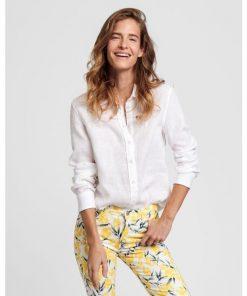Gant Linen Chambray Shirt Eggshell