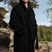 Luin Living Bath Robe Black