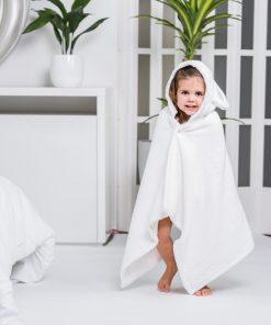 Luin Living Baby Bath Towel Snow White