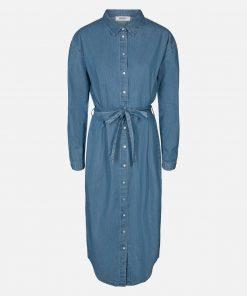 Moss Copenhagen Lyanna Shirt dress Midblue