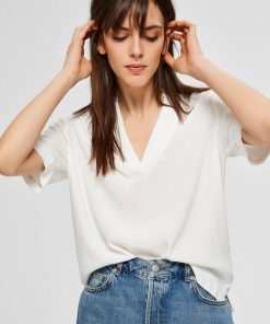 Selected Femme Ella Top White