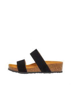 Bianco Biabetty Twin Strap Sandal Black