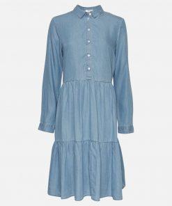 Moss Copenhagen Philippa Shirt Dress Blue Wash