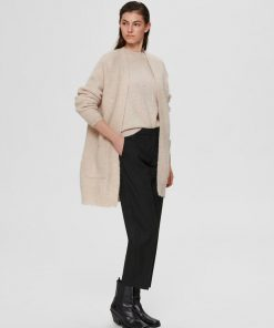 Selected Femme Lulu Long Cardigan Birch