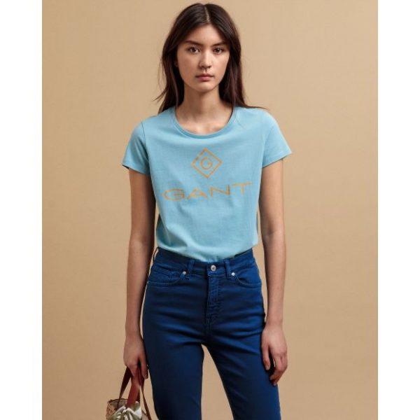 Gant Colour Lock-up T-shirt Seafoam Blue