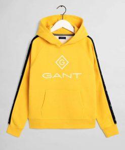 Gant Teens Stripe Hoodie Solar yellow