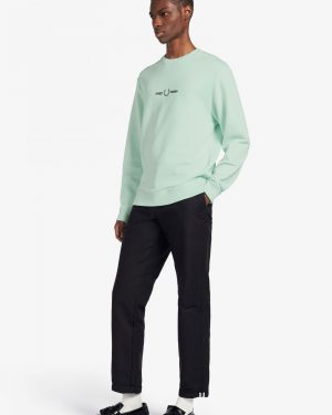 Fred Perry Graphic Sweatshirt Misty Jade