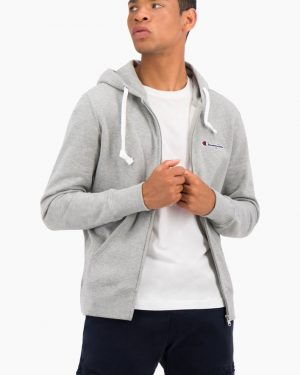 Champion Hooded Full-Zip Sweatshirt Light Grey