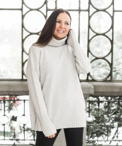 Pura Love Polo Knit Light Grey