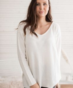 Pura Love V-neck Knit Off-white