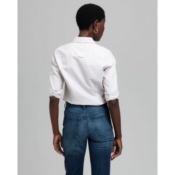 Gant The Oxford Banker Slim Shirt Warm Khaki