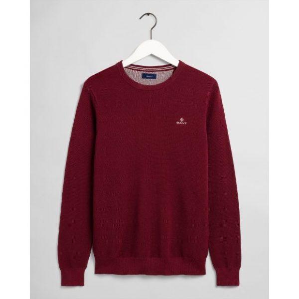 Gant Cotton Pique C-Neck Port Red