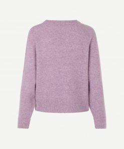Samsoe&Samsoe Nor O-neck Purple Jasper Melangek Short