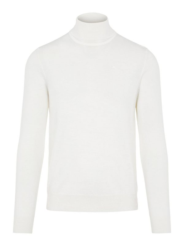 J.LINDEBERG LYD MERINO TURTLENECK SWEATER CLOUD WHITE