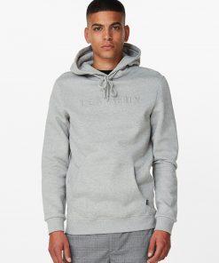 Les Deux Appliqué Hoodie Light Grey Melange