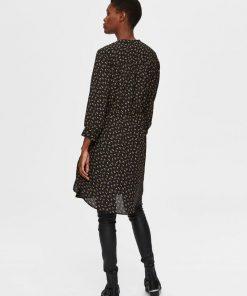 Selected Femme Damina Shirt Dress Black