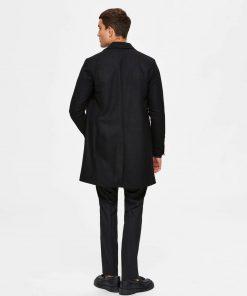 Selected Homme Hagen Wool Coat Black