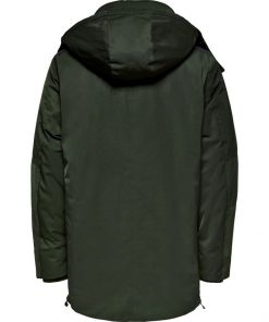 Only & Sons Tempest Technical Parkat Jacket Green