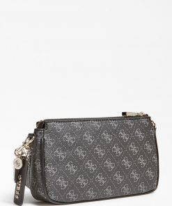 Guess Arie Double Pouch Crossbody Bag Black