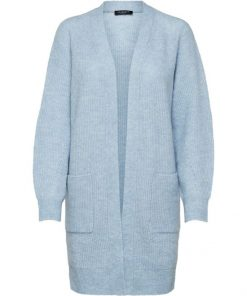 Selected Femme Lulu Long Cardigan Cashmere Blue