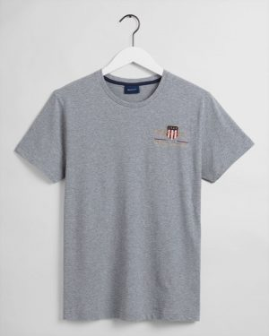 Gant Archive Shield T-shirt Grey Melange