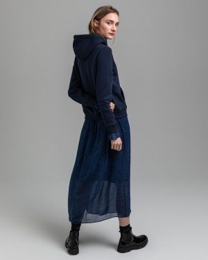 Gant Woman Archive Shield Hoodie Evening Blue