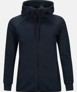 Peak Performance Tech Zip Hood Women Blue Shadow