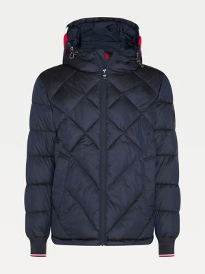 Tommy Hilfiger Diamond Quilted Hooded Jacket Desert Sky