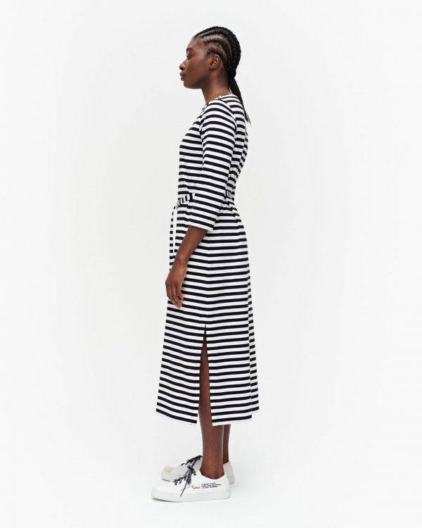 Marimekko Ilma Tasaraita Dress Black/White