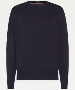 Tommy Hilfiger Pima Cotton/Cashmere Sweater Desert Sky Heather