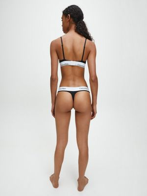 Calvin Klein Modern Cotton Thong Black