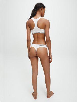 Calvin Klein Modern Cotton Thong White