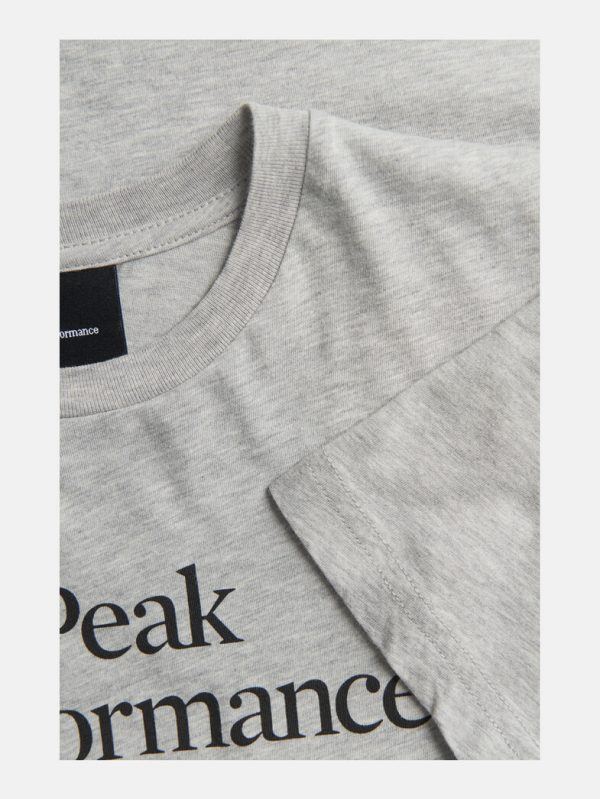Peak Performance Junior Original Tee Medium Grey Melange