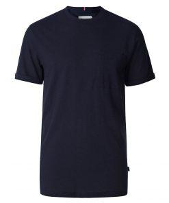 Les Deux Brenon Linen T-shirt Dark Navy