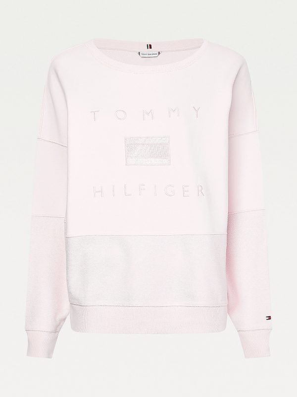 Tommy Hilfiger Relaxed Tonal Logo Sweatshirt Light Pink