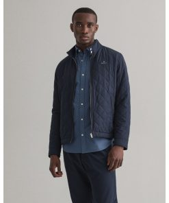 Gant Quilted Windcheater Evening Blue