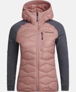 Peak Performance Helium Hybrid Jacket Women Warm Blush