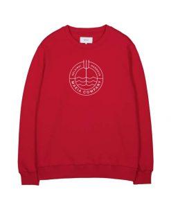 Makia Trident Light Sweatshirt Red